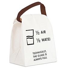 Half full or half empty? Canvas Lunch Bag