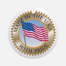 MADE IN THE USA SEAL! Round Ornament