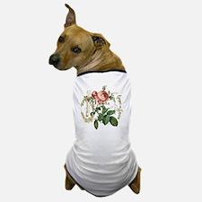 Pink Rose French ephemera Dog T-Shirt