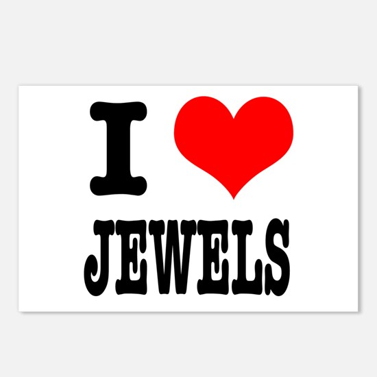 I Heart (Love) Jewels Postcards (Package of 8)