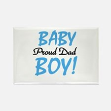 Baby Boy Proud Dad Rectangle Magnet