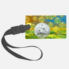 Peace – Golden and Emerald Seren Luggage Tag