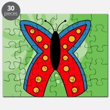 Butterfly Womens All Over Print T-Shirt Puzzle