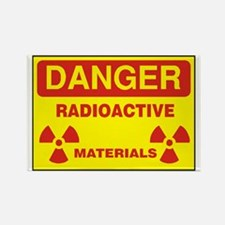 DANGER  - RADIOACTIVE  ELEMENTS! Rectangle Magnet