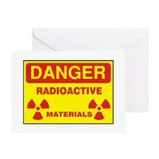 DANGER  - RADIOACTIVE  ELEMENTS! Greeting Card