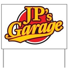 JP's Garage Logo Yard Sign