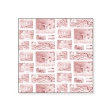 "English Cottages curtain Square Sticker 3"" x 3"""