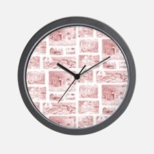 English Cottages curtain Wall Clock