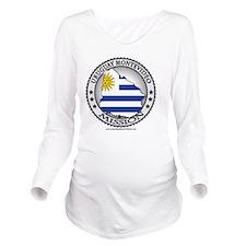 Uruguay Montevideo L Long Sleeve Maternity T-Shirt