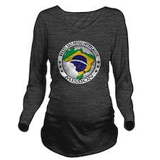 Brazil Sao Paulo Int Long Sleeve Maternity T-Shirt