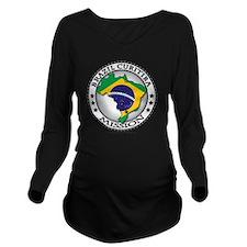 Brazil Curitiba LDS  Long Sleeve Maternity T-Shirt