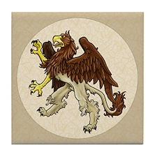 Heraldic Griffin Tile Coaster