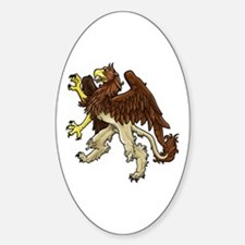 Heraldic Griffin Oval Decal