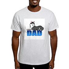 Black Siberian Husky Dad T-Shirt