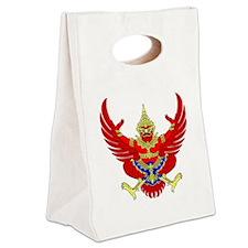 Thai Garuda Image Canvas Lunch Tote