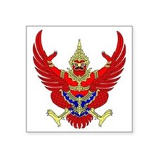 "Thai Garuda Image Square Sticker 3"" x 3"""