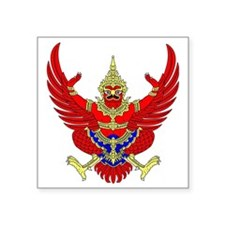 "Thai Garuda Image Square Sticker 3"" x 3"""