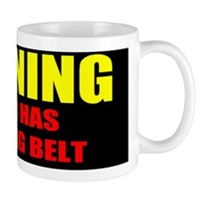 Warning Matching Belt Fun Mug