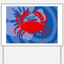 Crab 5 X 7 Area Rug Yard Sign