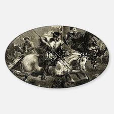 Italian Knights Boar Dog Hunt Sticker (Oval)