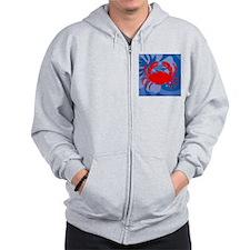 Crab Cloth Napkins Zipped Hoody