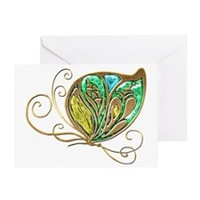 Bejeweled Fusion Butterfly Greeting Card