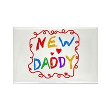 New Daddy Rectangle Magnet