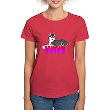Black Siberian Husky Grandma Tee