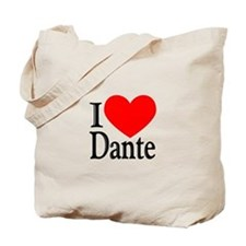 I Love Dante Tote Bag