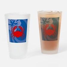 Crab Square Compact Mirror Drinking Glass