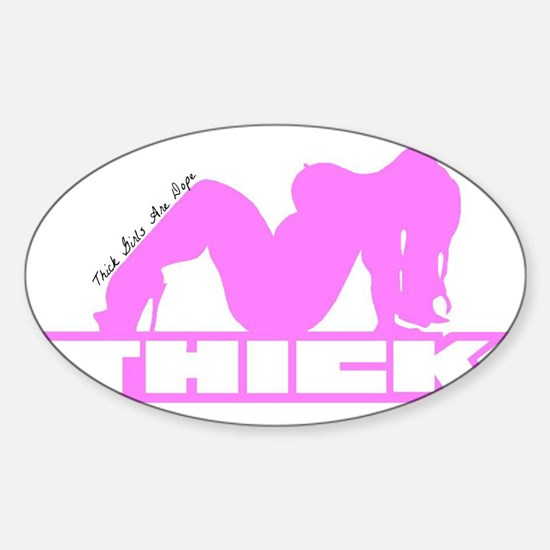 Thick Chick Sticker (Oval)