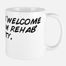 no, its his 'welcome back from reh Mug