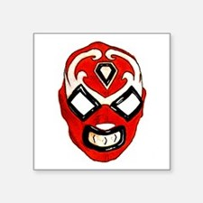"Mexican Wrestling Mask T-Sh Square Sticker 3"" x 3"""