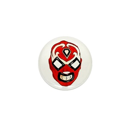 Mexican Wrestling Mask T-Shirt Mini Button