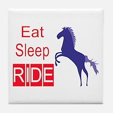 Eat Sleep Ride Horse Lover Attitude Tile Coaster