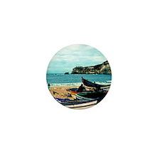 Portugal Algarve Cliffs with Boats Mini Button