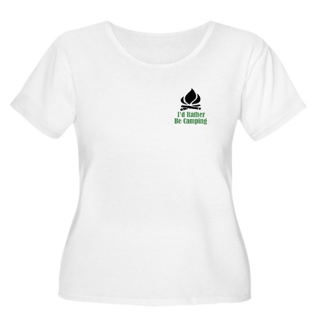Rather Be Camping Women's Plus Size Scoop Neck T-S