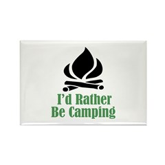 Rather Be Camping Rectangle Magnet (100 pack)