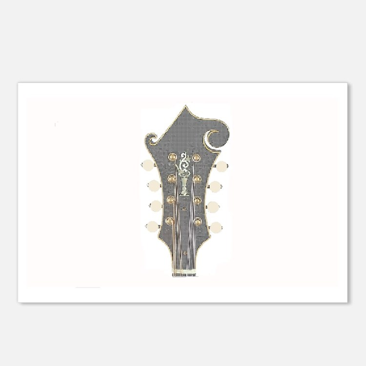 Plaid Mandolin Headstock Postcards (Package of 8)