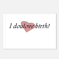 I doulove birth! Postcards (Package of 8)