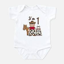 Cowboy First Birthday Infant Bodysuit