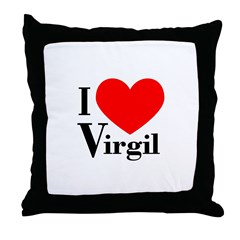 I Love Virgil Throw Pillow