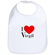 I Love Virgil Bib