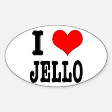 I Heart (Love) Jello Oval Decal