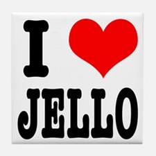 I Heart (Love) Jello Tile Coaster