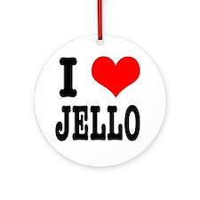 I Heart (Love) Jello Ornament (Round)