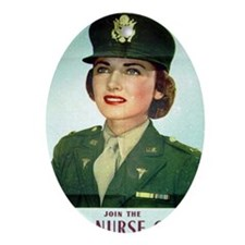 Army Nurse Recruiting Oval Ornament