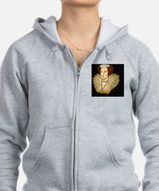 Mary Sidney, black background,  Zipped Hoody