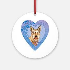 berger-heart Round Ornament