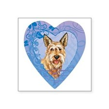 "berger-heart Square Sticker 3"" x 3"""
